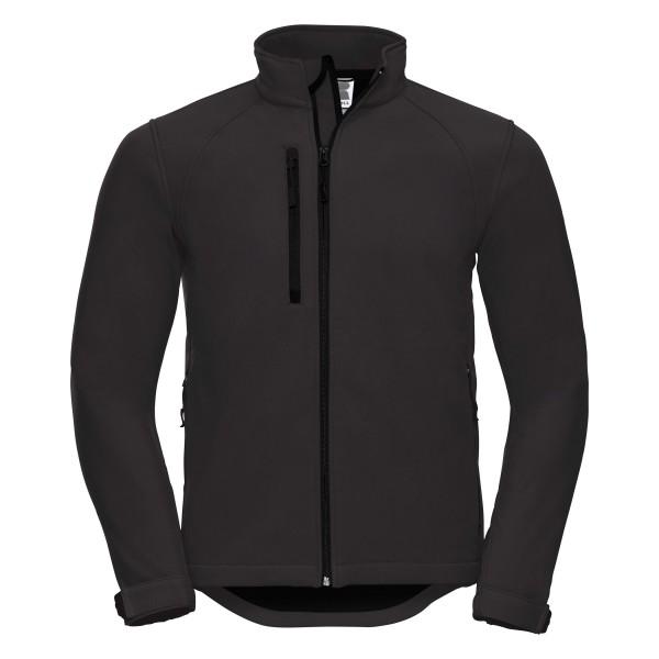 Soft-Shell Outdoor-Jacke, schwarz