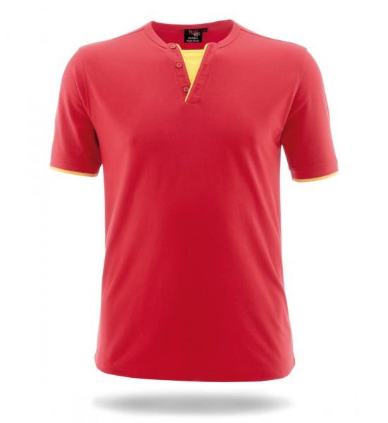 Retro-Shirt Night Hawk rot/leuchtgelb