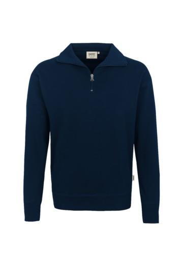 Zip-Sweatshirt, Mischgwebe, mit RV marin