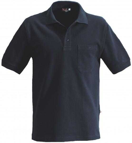 NA-Poloshirt, Brusttasche marine