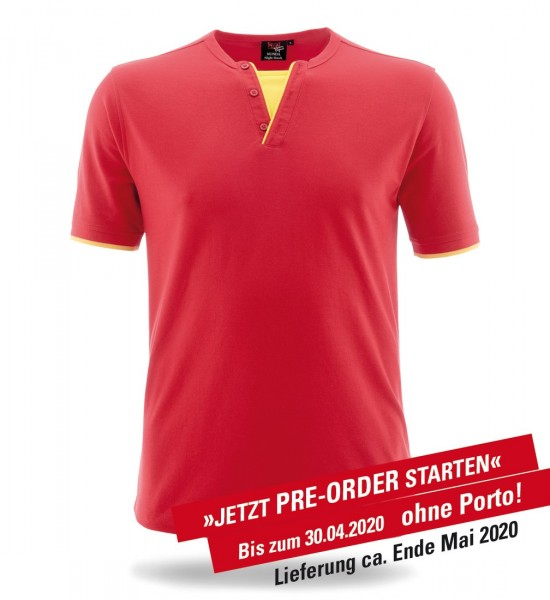 Retro-Shirt Night Hawk rot/leuchtgelb