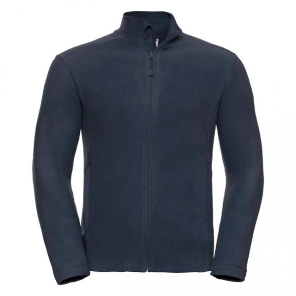 Microfleece-Jacke, marine, mit Seitensch