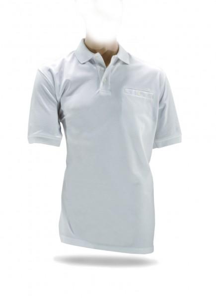 NA-Poloshirt, Brusttasche weiß
