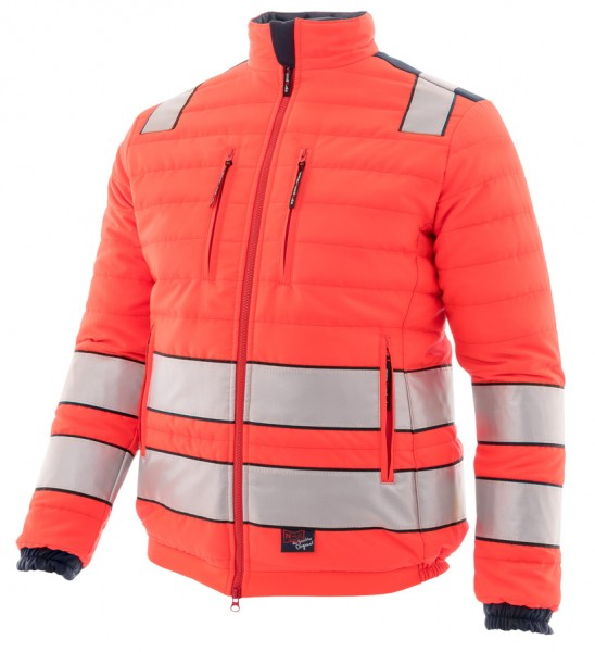 Steppjacke Night Hawk, leuchtrot-marine mit Reflex