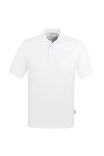Poloshirt, Brusttasche, 100 % Baumwolle