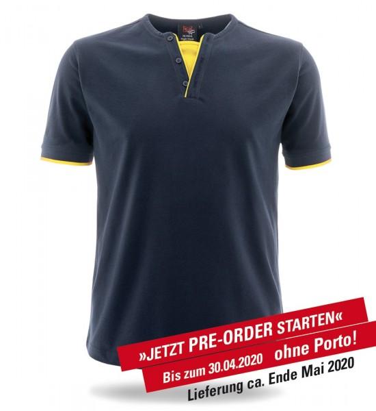 Retro-Shirt Night Hawk marine/leuchtgelb