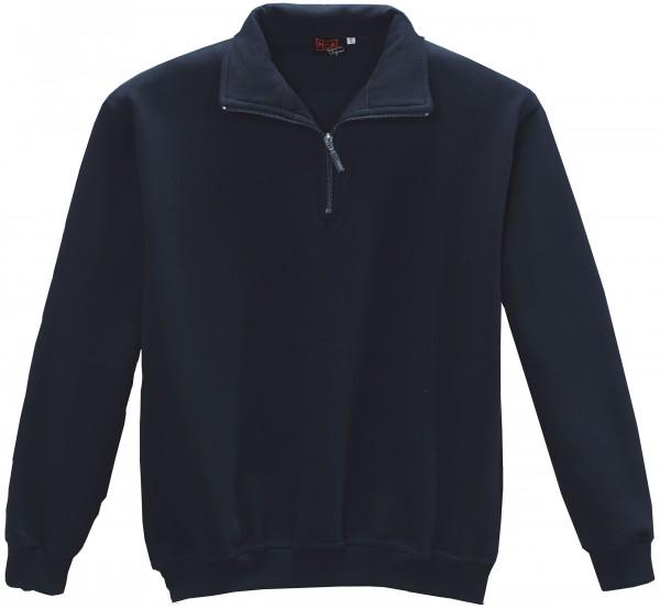 NA-Zip-Sweatshirt, Brusttasche marine