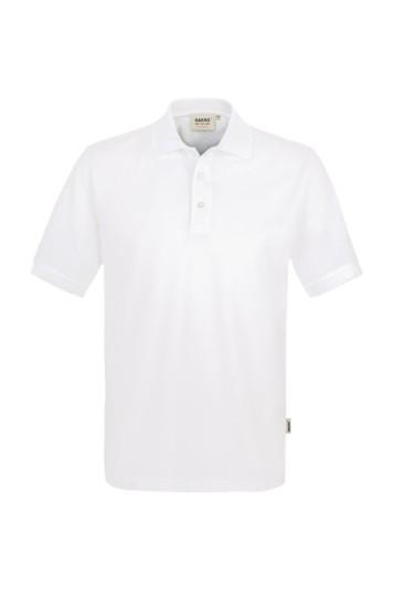Poloshirt, classic, Mischgewebe weiß