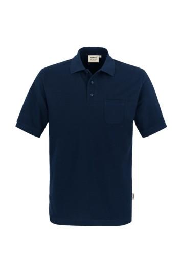 Poloshirt, Brusttasche, Mischgewebe mari