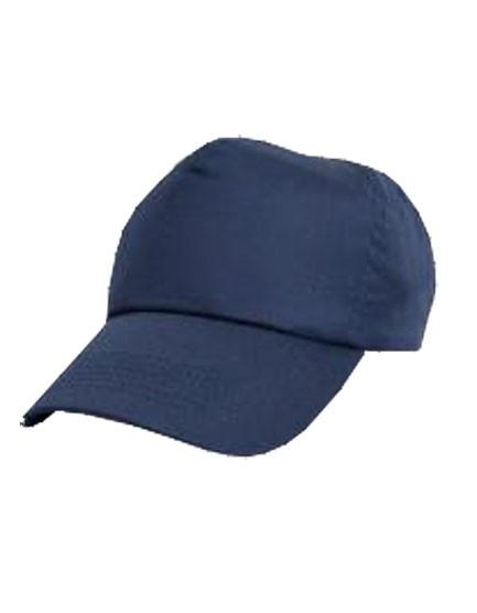Baumwoll-Cap, Fb. blau, Klettverschluss